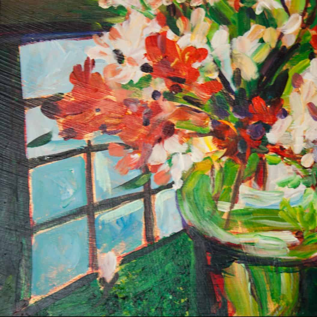 Mary Alice Coussoulos flower painting